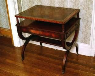 Mahogany Side Table, Modern