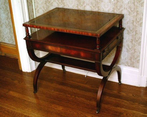 391: Mahogany Side Table, Modern