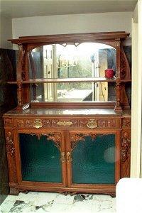 476: Oak Transitional Sideboard, circa 1900
