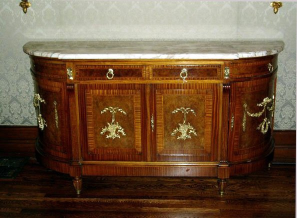 496: French Marble Top Buffet