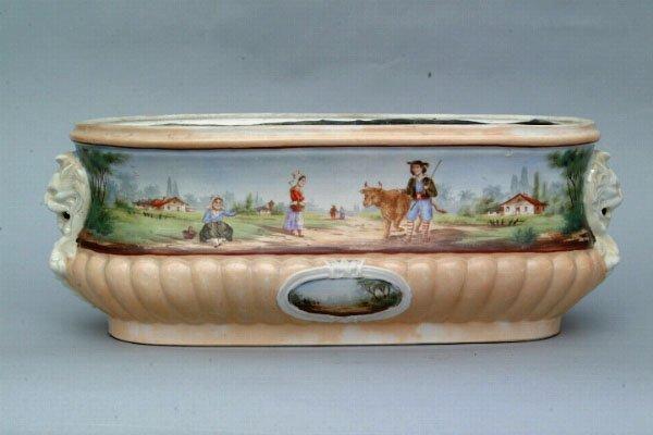 761: Continental Porcelain Cachepot