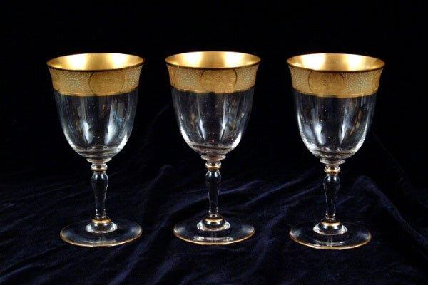 770: 11 Gilt Rim Goblets