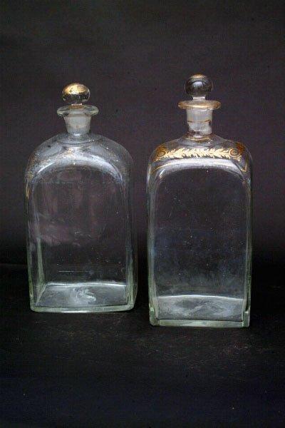 774: Pair  English Decanter Bottles