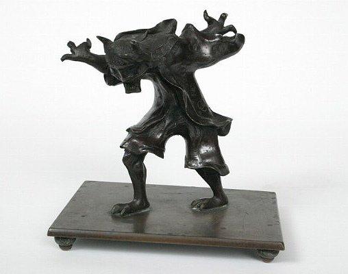 2: 19thc. Japanese Bronze God