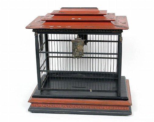 4: Vintage  Pagoda Bird Cage