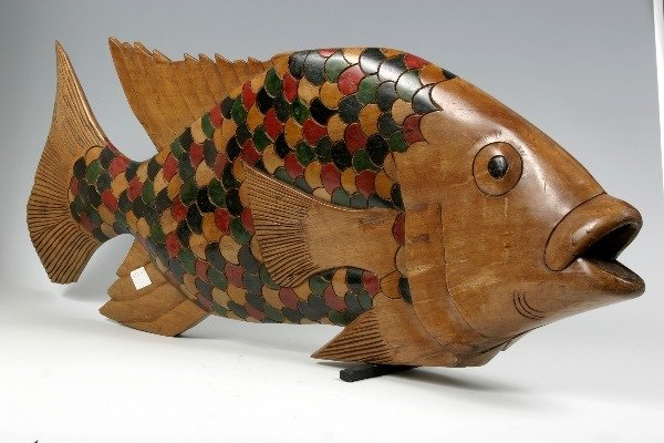 5: Japanese Carved Fish, 19th c.