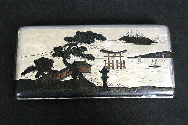 8: Japanese Silver Cigarette Case