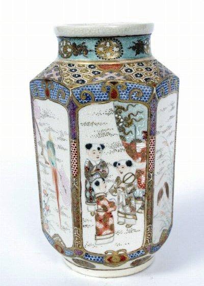13: Hexagonal Satsuma Vase