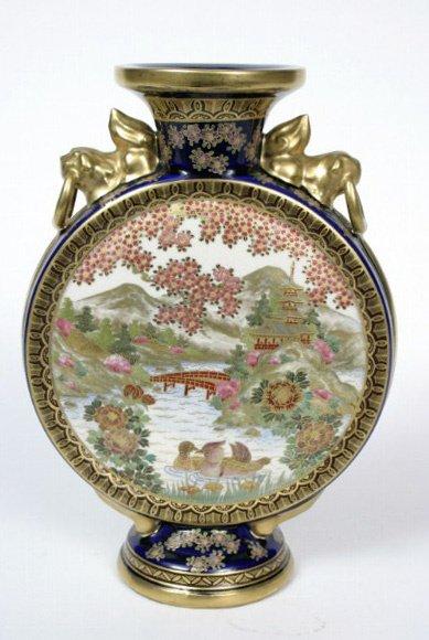15: Meiji Period Satsuma Vase