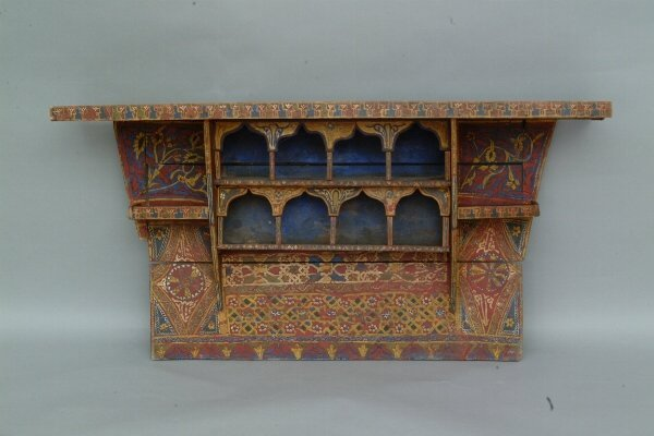 3: Painted Moroccan Wall Shelf