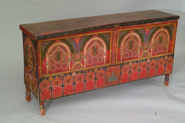 4: Painted Moroccan Blanket Chest