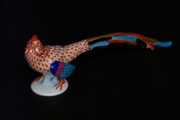 7: A Herend Fishnet Pheasant