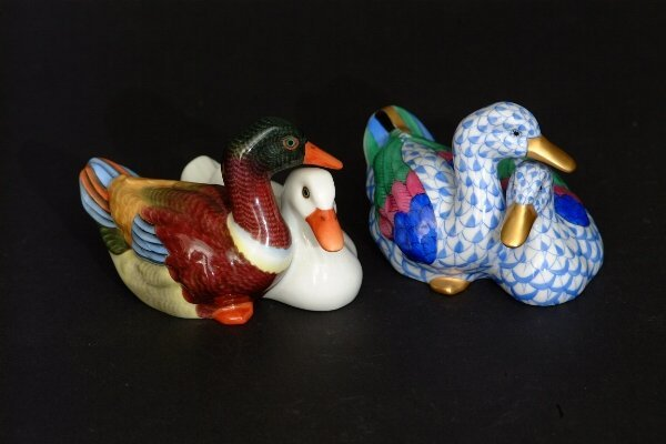 8: Two Herend Duck Figures