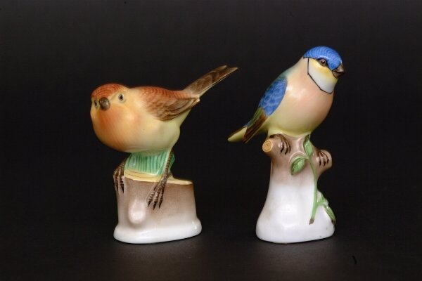 13: Two Herend Song Bird Figures