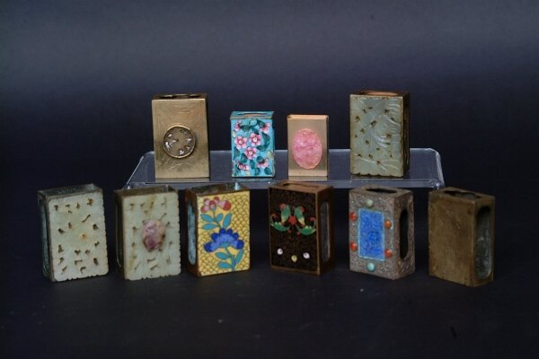 20: Lot of Chinese Match Box Holders