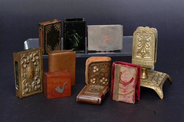 21: Lot of Match Box Holders, c.1900