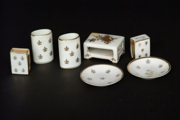 23: French  Porcelain Smoking Set