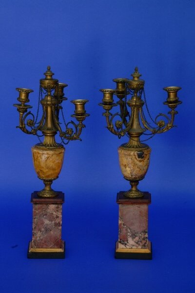 110: Pair of Candelabra, French, C. 1900