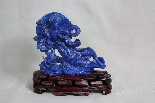 16: Chinese Carved Lapis Lazuli Figure