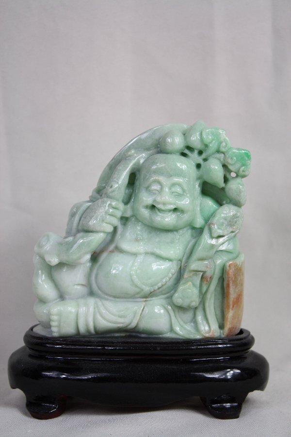 20: Chinese Carved Jadeite Figure