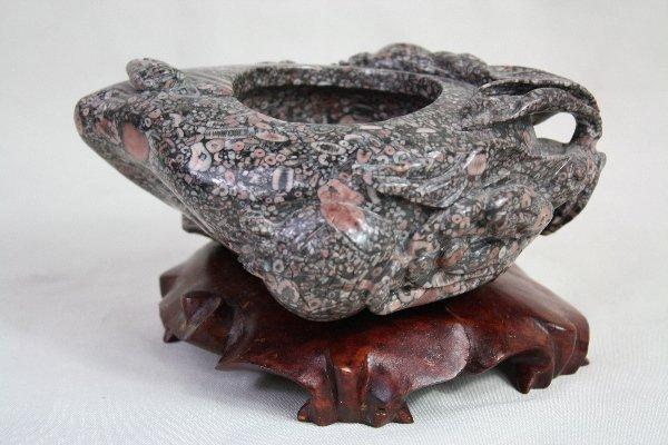 22: Chinese Carved Hard Stone Brush Washer