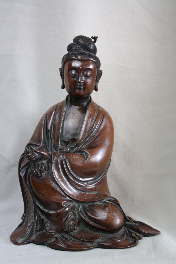 111: Chinese Bronze Quan-Yin