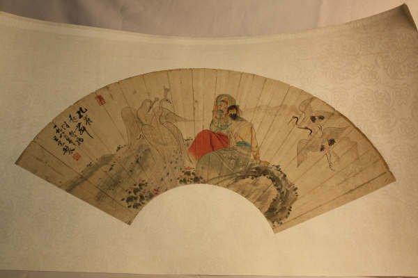 2008: Chinese Fan Shape Decorative Painting