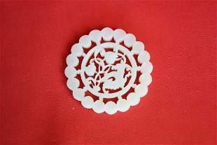 Chinese White Jade Plque