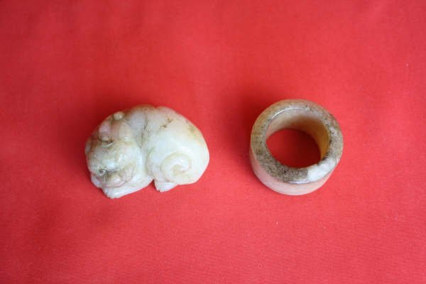 2016: Chinese Carved Jade Two Pieces