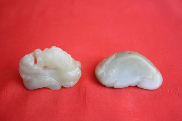 2021: Chinese Carved Jade Two Pieces