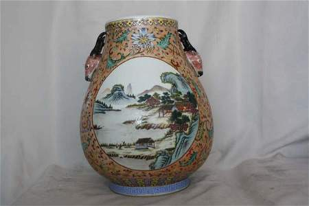 2160: Chinese Famille Rose Porcelain Jar