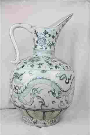 Chinese Blue and White Porcelain Ewer