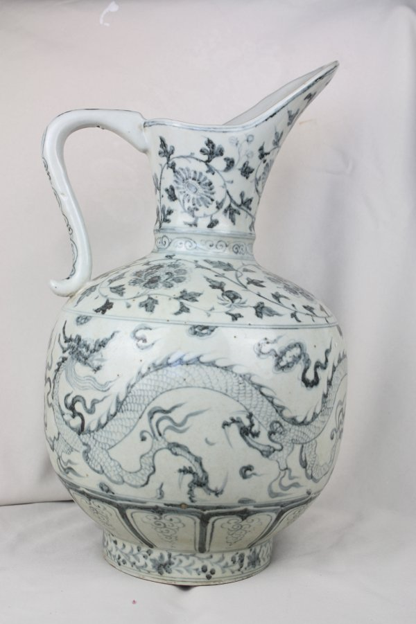 3007: Chinese Blue and White Porcelain Ewer