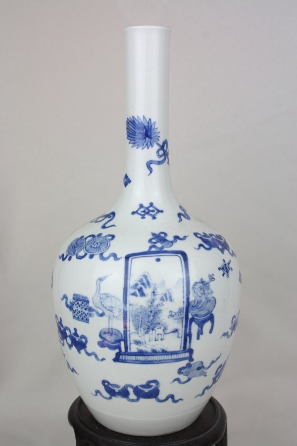 3014: Chinese Blue and White Porcelain Vase