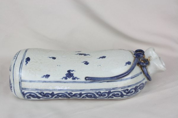 3019: Chinese Blue and White Porcelain Pillow