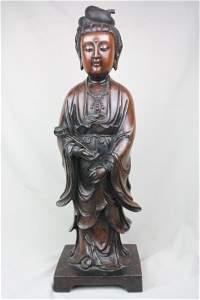 3154: Chinese Bronze Quan-Yin