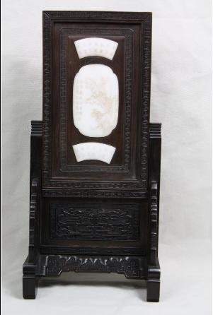 4051: Chinese Carved Jade Table Screen