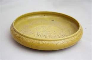 Chinese Yellow Glazed Porcelain Brush Pot