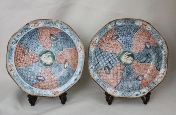 5007: A Pair of Chinese Famille-verte porcelain Plate
