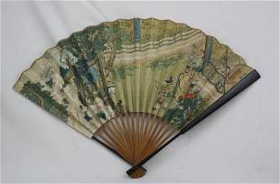 Chinese Fan Decorative Painting