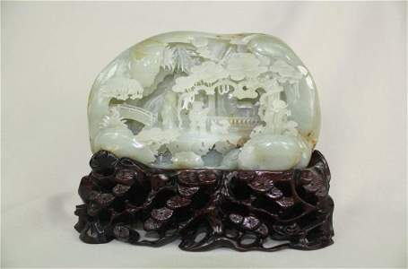 5179: Chinese Carved White Jade Boulder