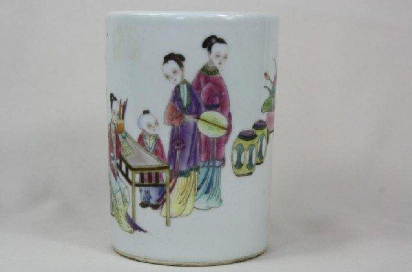 6006: Chinese Famille Rose Porcelain Pen Holder