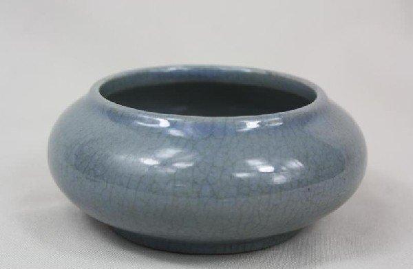 6009: Chinese Glazed Double-gourd Porcelain Vase