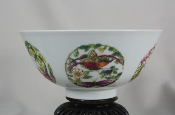 6012: Chinese Famille Rose Porcelain Bowl