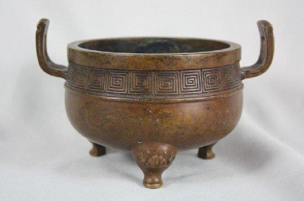 6020: Chinese Bronze Tripod Censer