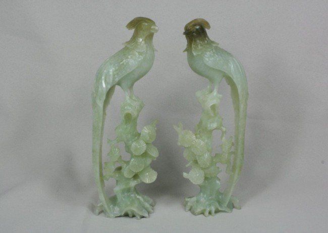 1515: Chinese Carved Jade Birds