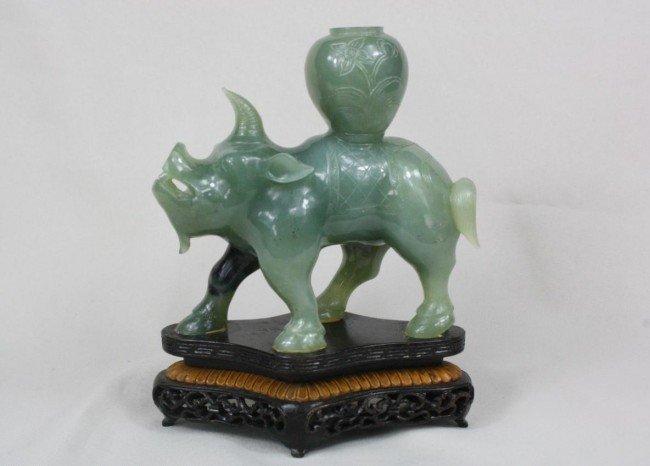 1517: Chinese Carved Jade Rino