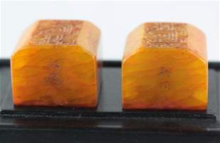 A Pair of Chinese Tian-huang Stone Seal