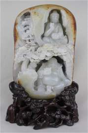 1059: Chinese He-Tian White Jade Boulder