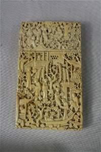 304: Ivory Carved Card Holder